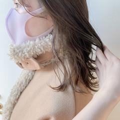 透明感カラー ナチュラル ボブ イヤリングカラー ヘアスタイルや髪型の写真・画像