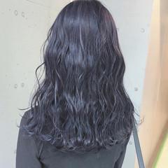 透明感カラー ロング ブルージュ 暗髪女子 ヘアスタイルや髪型の写真・画像