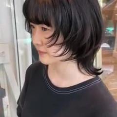 ナチュラルウルフ ミディアム ニュアンスウルフ ウルフ女子 ヘアスタイルや髪型の写真・画像