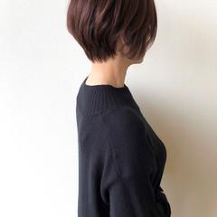 アッシュブラウン ショート 大人ヘアスタイル ショコラブラウン ヘアスタイルや髪型の写真・画像
