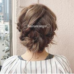 大人可愛い ラベンダーアッシュ ミディアム ヘアアレンジ ヘアスタイルや髪型の写真・画像