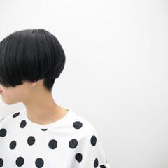 モード グレー シルバー ショート ヘアスタイルや髪型の写真・画像
