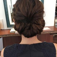 フェミニン ヘアアレンジ ロング デート ヘアスタイルや髪型の写真・画像