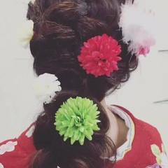 ガーリー デート ロング 成人式 ヘアスタイルや髪型の写真・画像