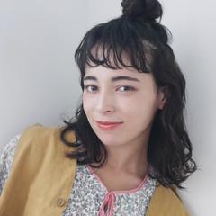 ミディアム ゆるふわパーマ パーマ 無造作パーマ ヘアスタイルや髪型の写真・画像