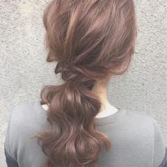 ゆるふわ ショート 簡単ヘアアレンジ セミロング ヘアスタイルや髪型の写真・画像