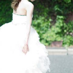 花嫁 ヘアアレンジ 結婚式 ガーリー ヘアスタイルや髪型の写真・画像