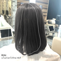 ミディアム グレージュ 前髪 髪質改善 ヘアスタイルや髪型の写真・画像
