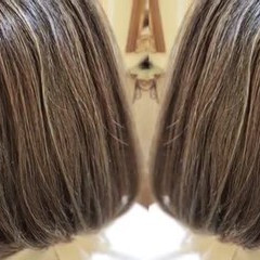 ナチュラル コントラストハイライト 大人ハイライト 3Dハイライト ヘアスタイルや髪型の写真・画像