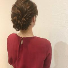 ヘアセット 結婚式 アップ ねじり ヘアスタイルや髪型の写真・画像