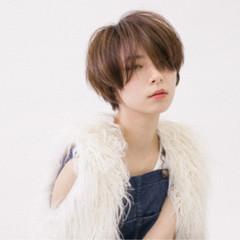 外国人風 大人かわいい ショート ウェットヘア ヘアスタイルや髪型の写真・画像