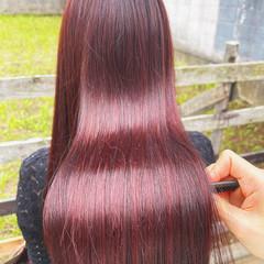 ピンクパープル 髪質改善トリートメント ロング ナチュラル ヘアスタイルや髪型の写真・画像