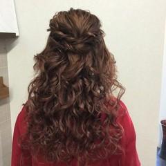 ロング 編み込み エレガント 上品 ヘアスタイルや髪型の写真・画像