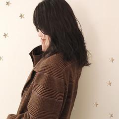 大人かわいい 大人女子 セミロング 暗髪 ヘアスタイルや髪型の写真・画像