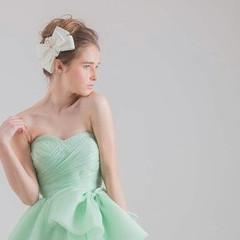 外国人風 ブライダル ヘアアレンジ 結婚式 ヘアスタイルや髪型の写真・画像