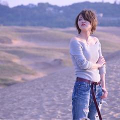 かっこいい 外国人風カラー 大人女子 ショート ヘアスタイルや髪型の写真・画像
