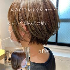 アンニュイほつれヘア 大人ショート ショートボブ ナチュラル ヘアスタイルや髪型の写真・画像