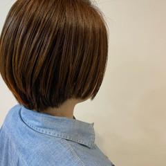 ショートボブ ショート ナチュラル 大人ハイライト ヘアスタイルや髪型の写真・画像