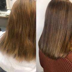 髪質改善 トリートメント 髪質改善カラー ナチュラル ヘアスタイルや髪型の写真・画像