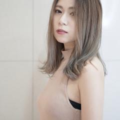 ルーズ 夏 ミディアム 外国人風フェミニン ヘアスタイルや髪型の写真・画像