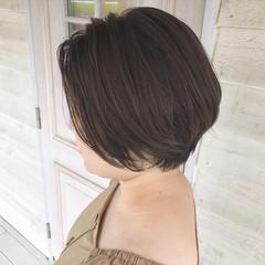 ベージュ ブルージュ ナチュラル ショート ヘアスタイルや髪型の写真・画像