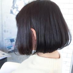 ボブ 外国人風 ナチュラル 暗髪 ヘアスタイルや髪型の写真・画像