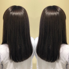 イルミナカラー 髪質改善トリートメント ナチュラル セミロング ヘアスタイルや髪型の写真・画像
