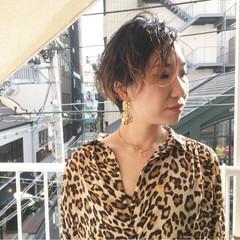 ハンサムショート ストリート ショート アプリコット ヘアスタイルや髪型の写真・画像