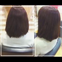 髪質改善カラー 艶髪 ミディアム オフィス ヘアスタイルや髪型の写真・画像