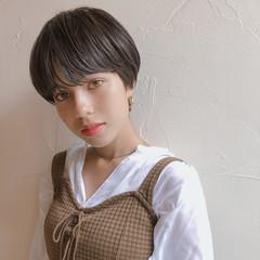 ショート マッシュ パーマ ナチュラル ヘアスタイルや髪型の写真・画像
