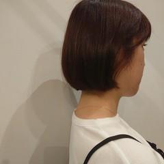 チェリーレッド デート ナチュラル可愛い ショートボブ ヘアスタイルや髪型の写真・画像