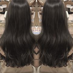 アッシュ ロング ウェーブ 外国人風 ヘアスタイルや髪型の写真・画像
