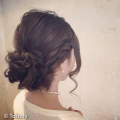 アップスタイル モテ髪 ツイスト ゆるふわ ヘアスタイルや髪型の写真・画像