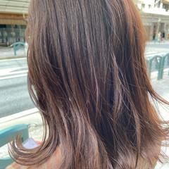 ミディアム ナチュラル 韓国風ヘアー 透明感カラー ヘアスタイルや髪型の写真・画像