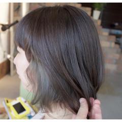 デート インナーカラー ウェーブ アンニュイ ヘアスタイルや髪型の写真・画像