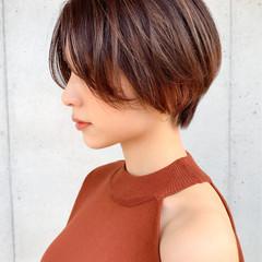 ショートヘア ショートボブ ハンサムショート ハイライト ヘアスタイルや髪型の写真・画像