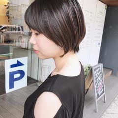 小顔ショート 丸みショート ショートボブ 川越 ヘアスタイルや髪型の写真・画像