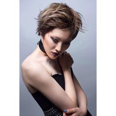 ショート アッシュ モード ベリーショート ヘアスタイルや髪型の写真・画像