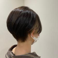 ショートボブ インナーカラー ショートヘア ベリーショート ヘアスタイルや髪型の写真・画像