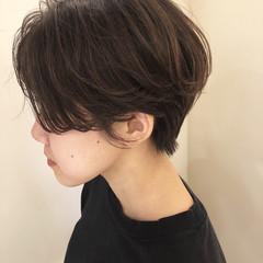 アッシュブラウン ハンサムショート ショートヘア ショート ヘアスタイルや髪型の写真・画像