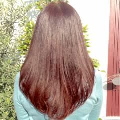 ブラウンベージュ レッド 秋 ピンク ヘアスタイルや髪型の写真・画像