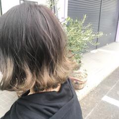 ボブ アッシュ グラデーションカラー デート ヘアスタイルや髪型の写真・画像