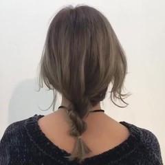 簡単ヘアアレンジ ナチュラル ヘアアレンジ セミロング ヘアスタイルや髪型の写真・画像