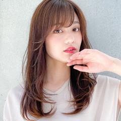 レイヤー 小顔 レイヤーカット デジタルパーマ ヘアスタイルや髪型の写真・画像