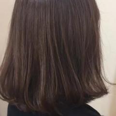 ミニボブ ハイライト ナチュラル ロブ ヘアスタイルや髪型の写真・画像