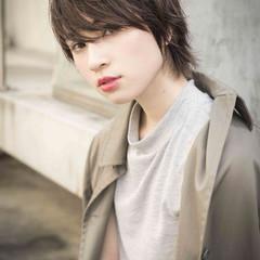 モード 黒髪 ストレート 暗髪 ヘアスタイルや髪型の写真・画像
