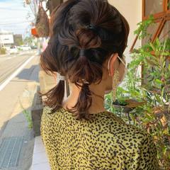 ボブ セルフヘアアレンジ モード 結婚式ヘアアレンジ ヘアスタイルや髪型の写真・画像