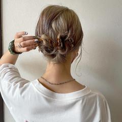 ヘアアレンジ 簡単スタイリング ストリート 簡単ヘアアレンジ ヘアスタイルや髪型の写真・画像