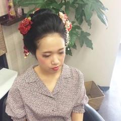 セミロング 和装ヘア ヘアアレンジ 和装 ヘアスタイルや髪型の写真・画像
