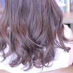 透明感 外国人風カラー セミロング ナチュラル ヘアスタイルや髪型の写真・画像